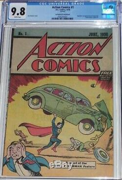 Action Comics # 1 Cgc 9.8 Safeguard Promotionnels. Réimpressions 1ère Apparition De Superman