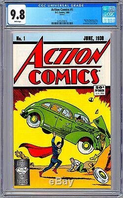 Action Comics # 1 Cgc 9.8 Wp 50e Anniversaire Reprint 1er Superman App 1938-1988
