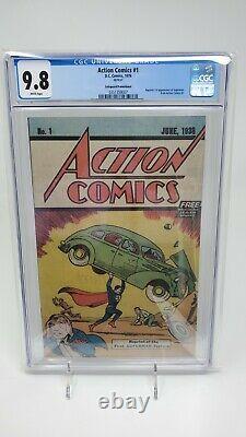 Action Comics #1 Cgc 9.8 Wp Safeguard Promotionnel 1ère Application Superman 1976 DC