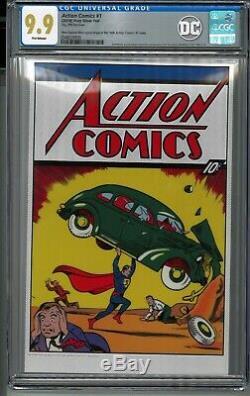 Action Comics # 1 Cgc 9,9 Mt 35 Grams Feuille D'argent DC Superman Premier 1st Release