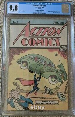 Action Comics #1 Cgc A Classé 9.8 Safeguard Promotional (1976) 1er Superman