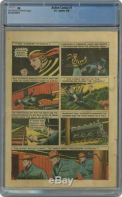Action Comics # 1 Cgc Pg 11 Page Seulement 2.016.059.005 1ère Application. Superman