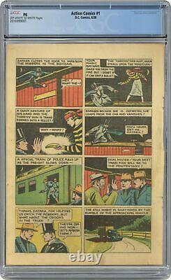 Action Comics # 1 Cgc Pg 15 Page Seulement 2.016.999.001 1ère Application. Superman