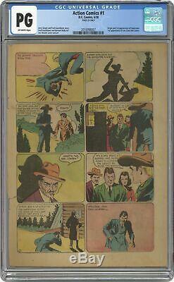Action Comics # 1 Cgc Pg 29 Page Seulement 2.016.998.007 1ère Application. Superman