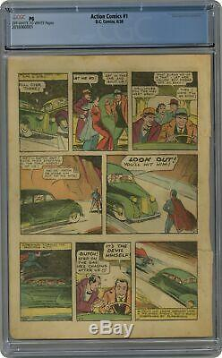 Action Comics # 1 Cgc Pg 4e Page Seulement 2.016.060.001 1ère Application. Superman