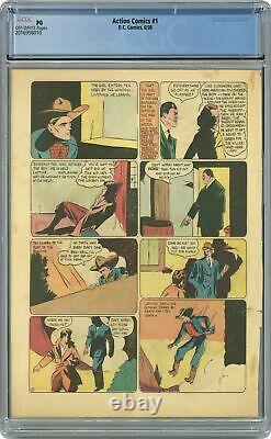 Action Comics #1 Cgc Pg Page 28 Seulement 2016998010 1ère Application. Surhomme