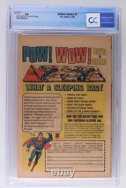 Action Comics #1 DC 1976 Cgc 9.4 Réimpressions 1ère Apparition De Superman D'acti