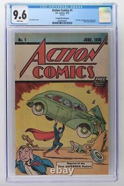 Action Comics #1 DC 1976 Cgc 9.6 Safeguard Reprint 1ère Application De Superman