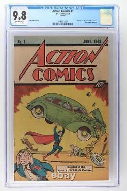 Action Comics #1 DC 1976 Cgc 9.8 (10 Cent Reprint) 1ère Apparition De Superman