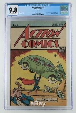 Action Comics # 1 DC 1976 Cgc 9,8 Réimpressions De Superman 1er Apparence De Acti