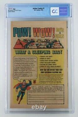 Action Comics #1 DC 1976 Cgc 9.8 Réimprime 1ère Application Superman! Sac De Couchage