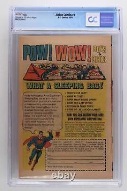 Action Comics # 1 DC 1976 Cgc 9.8 Reprint 1ère Application De Superman D'action # 1