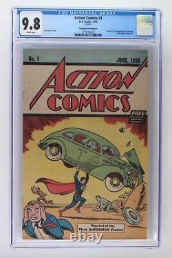 Action Comics #1 DC 1976 Cgc 9.8 Safeguard Promotional Reprint Superman