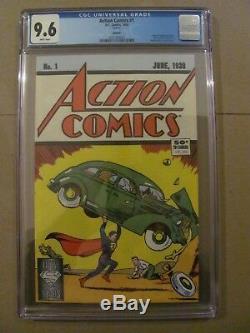 Action Comics # 1 DC 1988 Réimprimer 1er Application Superman 50e Anniversaire Cgc 9,6 Nm +