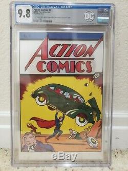 Action Comics # 1 Feuille D'argent 9.8 Cgc Nouvelle-zélande Mint. 999 En Argent Fin