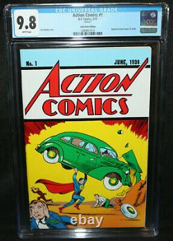 Action Comics #1 Loot Crate Edition Réimpression Cgc 9,8e Année 2017
