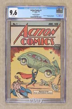 Action Comics #1 Réimpressions #1.1976. Cgc Gratuite 9.6 1345360021