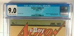 Action Comics # 1 Reprint 1er App Superman 1976 Cgc 9.0 Nm- DC Comics