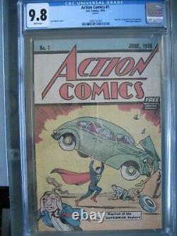 Action Comics #1 Safeguard Cgc 9.8 Wp 1976 Réimpressions 1ère Application Superman 2ème Impression