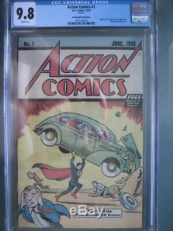 Action Comics # 1 Safeguard Promotional Reprint Cgc 9.8 Wp 1976 1ère Application Superman