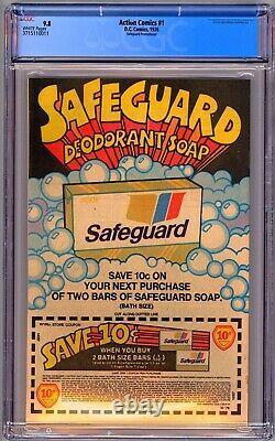 Action Comics #1 Safeguard Reprint Cgc 9.8 Wp Nm/mt -1976