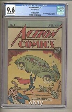 Action Comics #1 (cgc 9.6) Pages Owithw 1976 Reprint 1ère Application. Superman (c#28499)