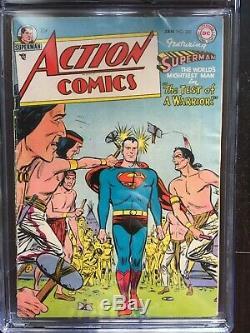 Action Comics # 200 Cgc Vg 4.0 Blanc Pg! Rare Wayne Boring Art