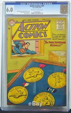 Action Comics # 207 Cgc 6.0 Superman 1955 4ème Plus Haut Grade