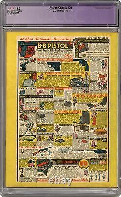 Action Comics #20 Cgc 6.0 Restauré 1940 1250348001