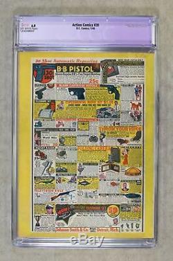 Action Comics # 20 Cgc 6.0 Restaurer 1940 1250348001