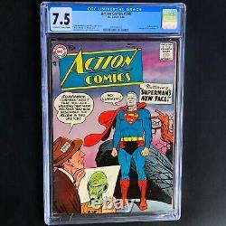 Action Comics #239 Cgc 7.5 Annonce Pour Les Challengers De L'inconnu 1 Superman DC