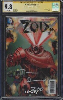 Action Comics # 23.2 / Zod # 1 Lenticulaires Cgc 9.8 Ss Signé Par Terrance Stamp