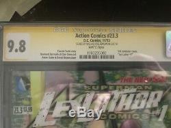 Action Comics # 23.3, Lex Luther 3-d, Cgc 9.8 Ss Michael Rosenbaum, Smallville