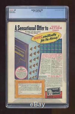 Action Comics # 23 Cgc 6.5 Conservée 1940 1399196002 1ère Application. Lex Luthor