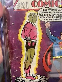 Action Comics 242 Cgc 2.0 Premier Brainiac Et La Ville De Kandor