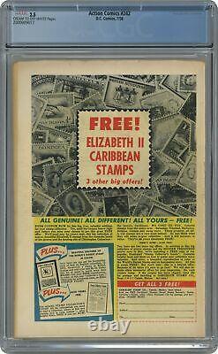 Action Comics #242 Cgc 2.5 1958 200009017 1ère Application. Et Origine Braniac, Kandor