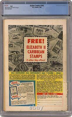 Action Comics #242 Cgc 2.5 1958 3731367001 1ère Application. Et Origine Braniac, Kandor