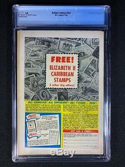 Action Comics # 242 Cgc 3.0 (1958) Org Et 1ère Application De Brainiac