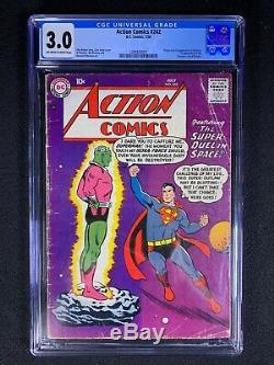 Action Comics # 242 Cgc 3.0 (1958) Org Et 1ère Application De Brainiac No Reserve