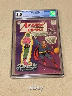 Action Comics 242 Cgc 3.0 Owithwhite Pages (1ère Application Brainiac) Mega Key + Aimant