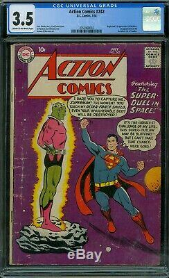 Action Comics 242 Cgc 3.5 1er Brainiac