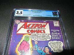Action Comics 242 Cgc 3.5, 1er Brainiac (dc 1958)