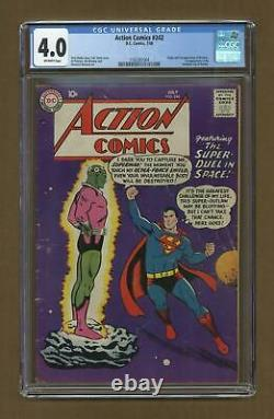 Action Comics #242 Cgc 4.0 1958 1165381004 1ère Application. Et Origine Braniac, Kandor