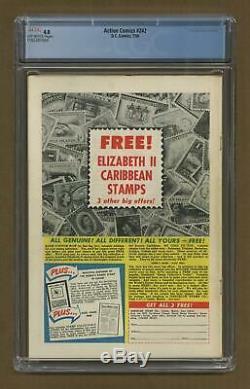 Action Comics # 242 Cgc 4.0 1958 1165381004 1ère Application. Et Origine Braniac, Kandor
