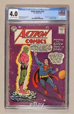 Action Comics # 242 Cgc 4.0 1958 1571238005 1ère Application. Et Origine Braniac, Kandor