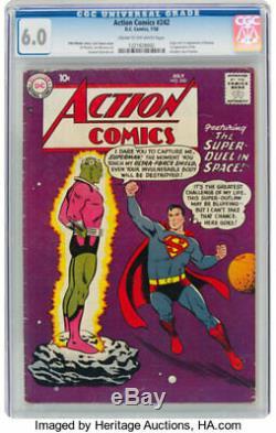 Action Comics 242 Cgc 6.0 (première Brainiac) Très Difficile À Trouver DC Entrez F / +