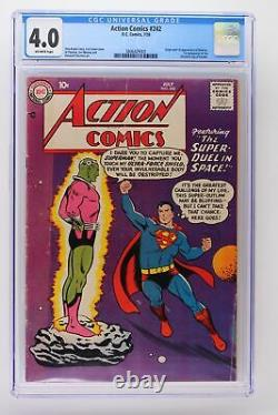 Action Comics #242 DC 1958 Cgc 4.0 Origin & 1ère Application De Brainiac. Surhomme