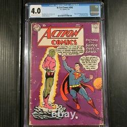 Action Comics #242 DC 1958 Cgc 4.0 (bon Vérifier) 1ère Apparence/origine Brainiac