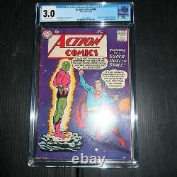 Action Comics #242 DC Pub 1958 Cgc 3.0 (g/vg) 1ère Apparition/origin Brainiac