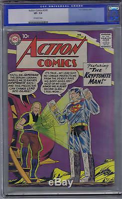 Action Comics # 249 DC 1959 Cgc 7.5 (très Fine -)